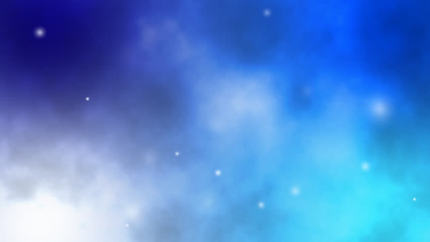 Soft Blue Galaxy Background With Stock Footage Video 100 Royalty