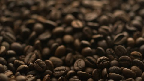 Coffee bean shooting with high speed camera, phantom flex.