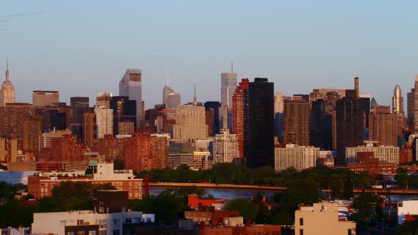 Sunrise over Manhattan, time lapse | Shutterstock HD Video #3579332