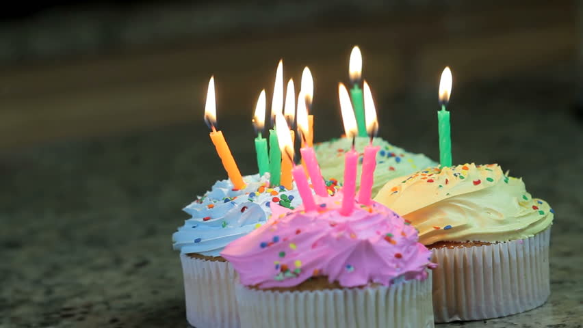 Cake Candle Party Stock Footage Video 100 Royalty Free