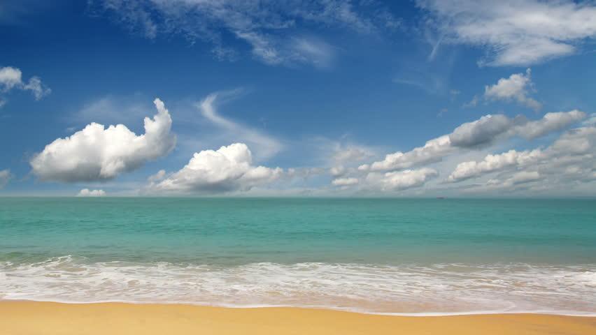 beautiful beach landscape in India