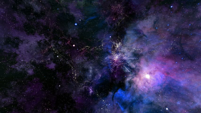 HD - Flying through star fields in deep space (Loop).   Shutterstock HD Video #3593582