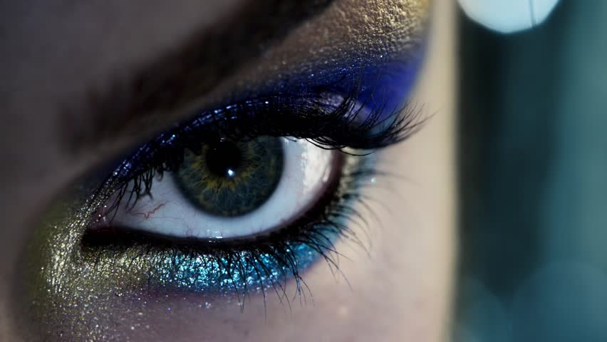 Sexy woman Human eye close up macro | Shutterstock HD Video #3668690