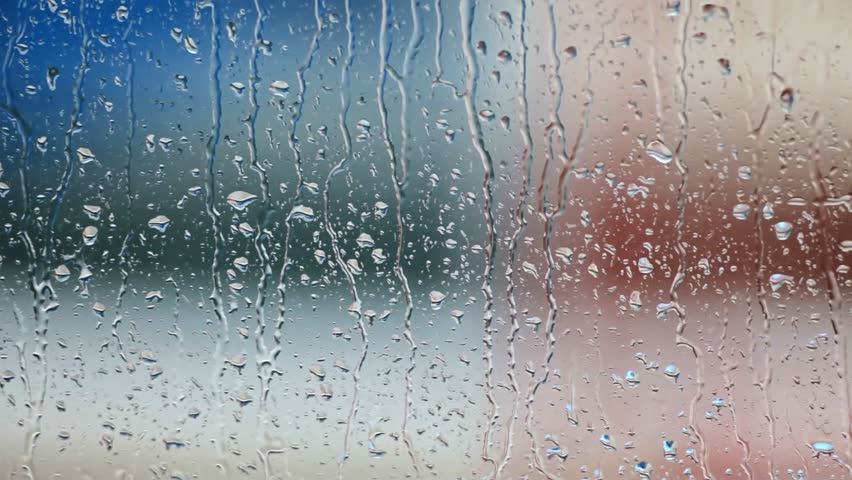 Glass texture transparent  Rain Drops On The Window Glass Stock Footage Video 3690722 ...