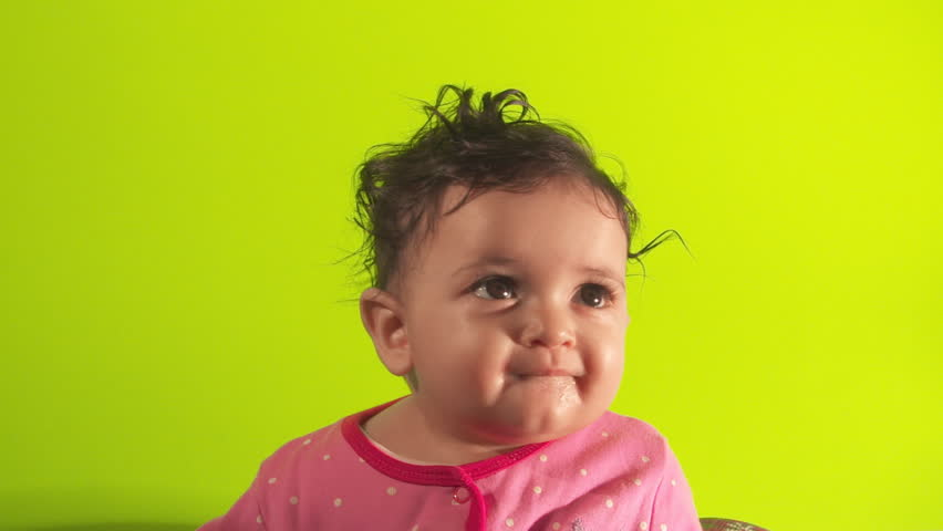 Green Screen Happy Baby