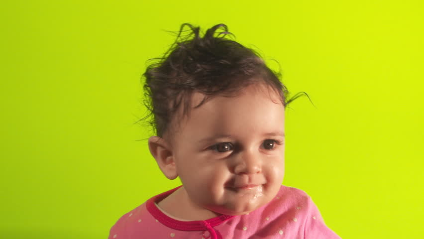 Cute Baby Green Screen