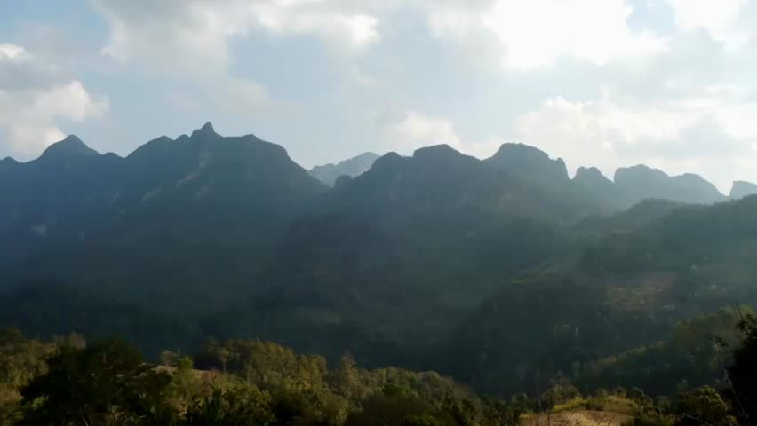 Wide mountain in northern Thailand.Time lapse. | Shutterstock HD Video #3697682