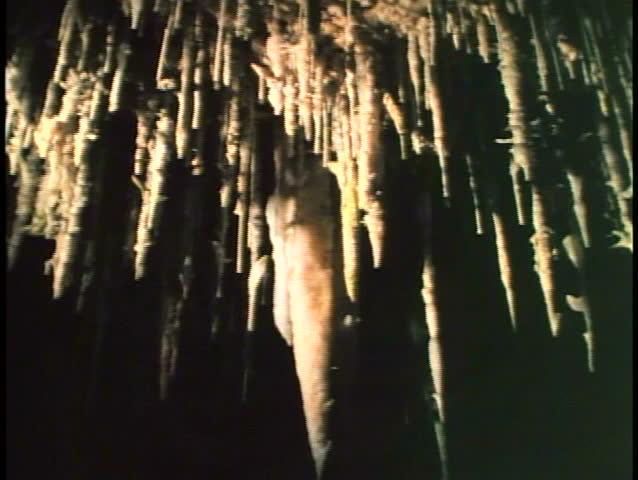 Crystal Cave in Bermuda interior, yellow light | Shutterstock HD Video #3706772