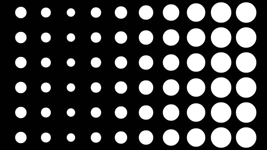High Definition CGI motion backgrounds ideal for editing, led backdrops or broadcasting featuring 2D white circles on a black background. Great for lumakeying and masking.