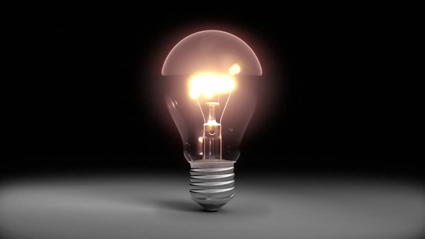 Bulb Turns On And Off Stock Footage Video 100 Royalty Free