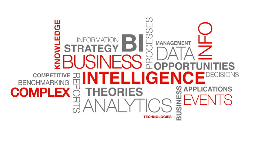 Business intelligence word cloud text animation | Shutterstock HD Video #3767261