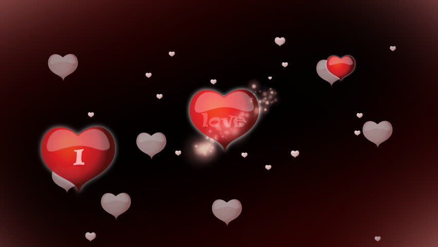 3d animation of giant romantic red heart growing larger - I love you 4k ...