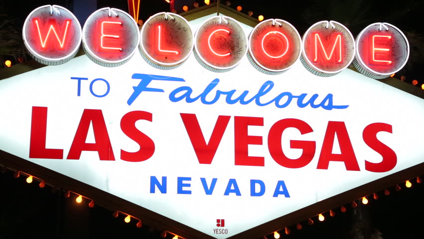 Welcome to Las Vegas sign at night | Shutterstock HD Video #3791222