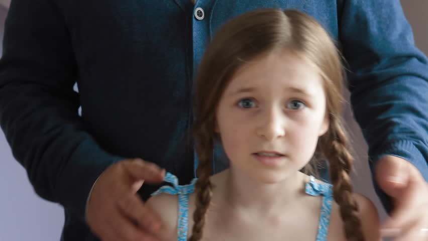 Spoiled Brat - A stroppy little girl is very disappointed in a surprise