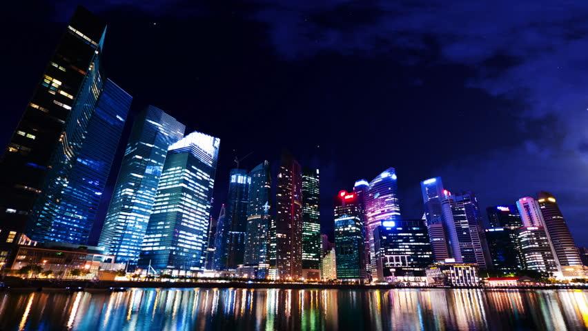 City Skyscrapers Blackout | Shutterstock HD Video #3806663