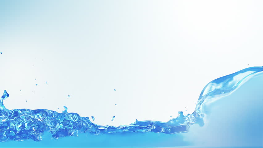 Water splashes filling the frame. Alpha matte included. Blue background. SEE MORE OPTIONS IN MY PORTFOLIO. | Shutterstock HD Video #3811085