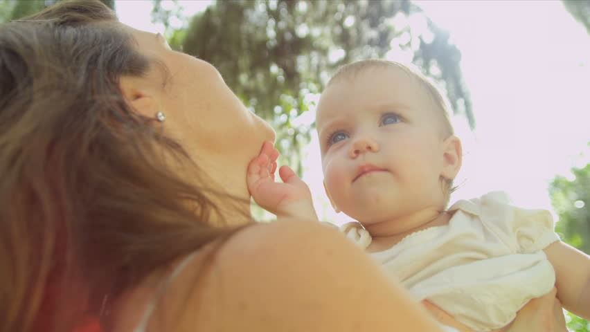Caucasian young mother spending leisure time with toddler | Shutterstock HD Video #3814412
