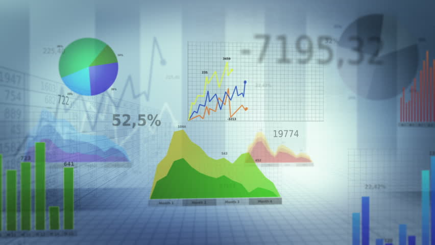 Financial figures and diagrams showing increasing profits. 360. Loopable. White. SEE MORE COLOR OPTIONS IN MY PORTFOLIO.