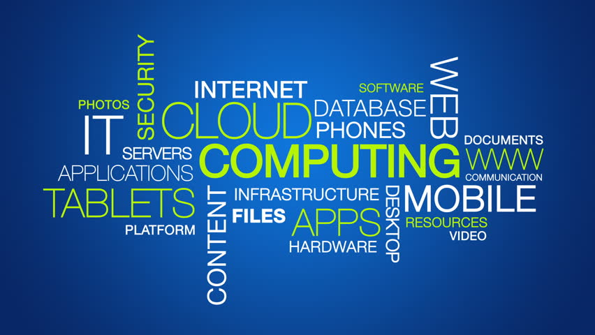Cloud Computing word cloud text animation | Shutterstock HD Video #3824879