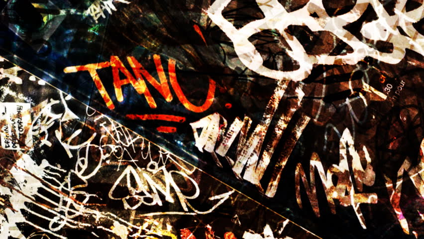 Graffiti on a wall stock footage video 33753232 shutterstock composite this dirty graffiti texture over your footage to get an urban grunge style please voltagebd Image collections
