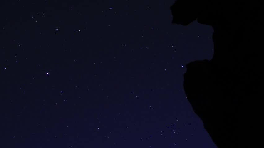 Volcanic Rock Formation LM06 Timelapse Moonlight Shadows Tilt Up