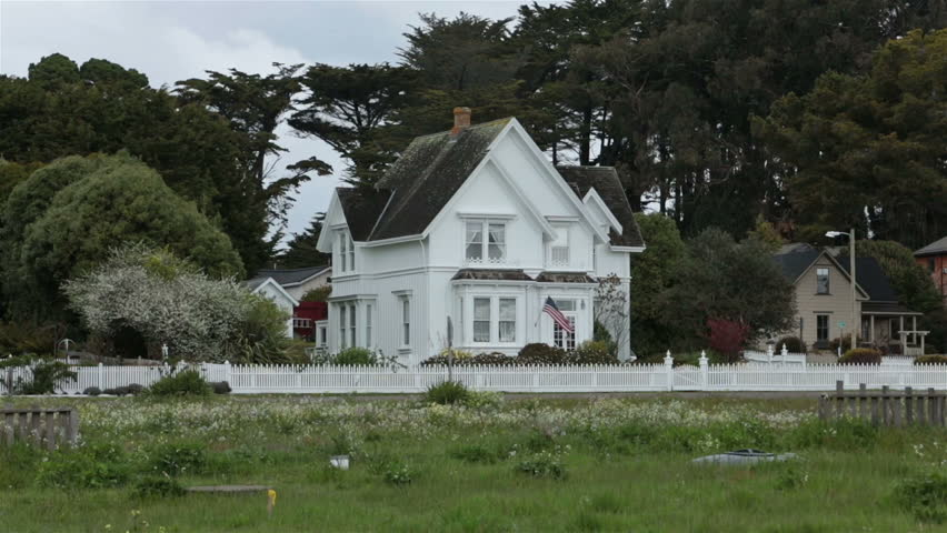 Old Historic Pioneer Mansion Home California Coastal Village Vintage And Tourism Town Mendocino Highway North Of San Francisco