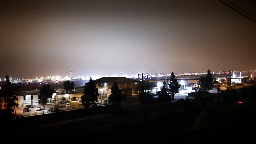 Jet taking off at Night   Shutterstock HD Video #3853523