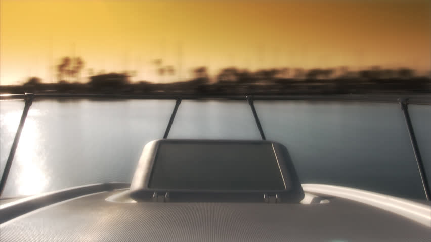 Abstract Time Lapse of Boat leaving Harbor at Sunset | Shutterstock HD Video #3856622