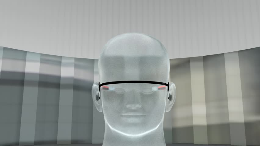 Augmented reality device.   Shutterstock HD Video #3857732