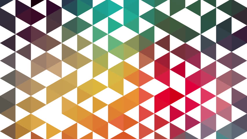 Triangles hipster animation, retro pattern of geometric shapes. Colorful-mosaic banner. Geometric hipster retro background. Retro triangle background animation. Triangles appears. Stop motion. #3886655