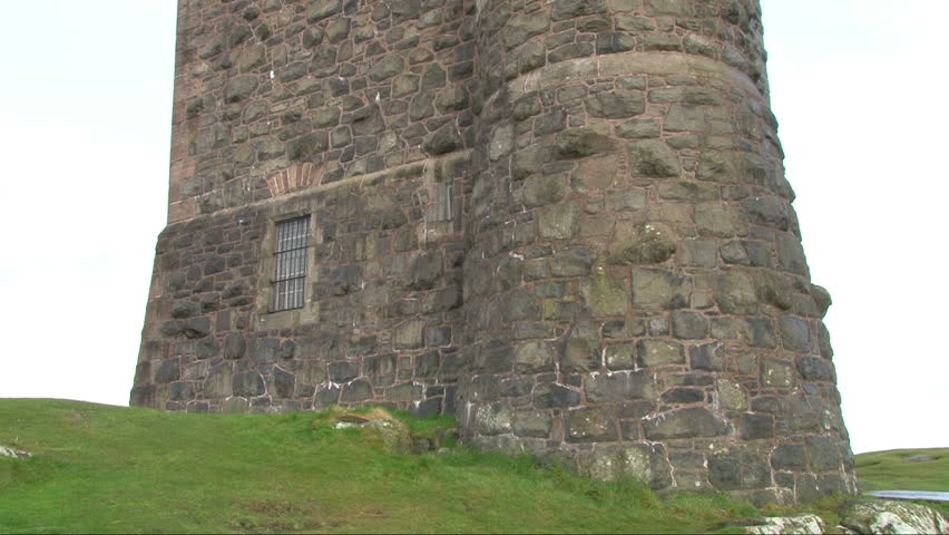 Tower similar to that in the fairytale Rapunzel. The Scrabo Tower in Northern Ireland.