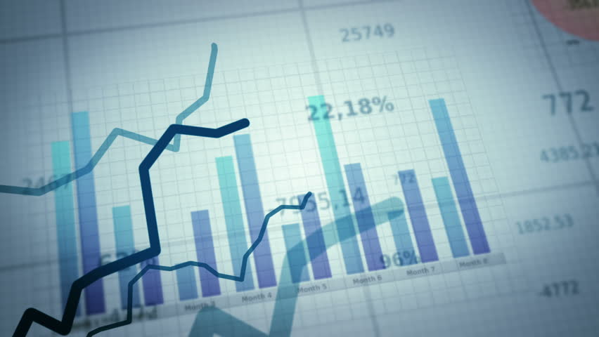 Growing charts.White-Black. Financial figures and diagrams showing increasing profits.Two colors to choose. Loopable.  NEW 4K IMPROVED VERSION IN MY PORTFOLIO | Shutterstock Video #3913322