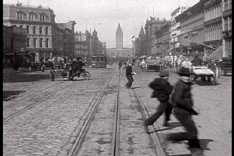 1900s - A trip down Market Street in San Francisco shows a fascinating glimpse of the city before the devastating earthquake of 1906.