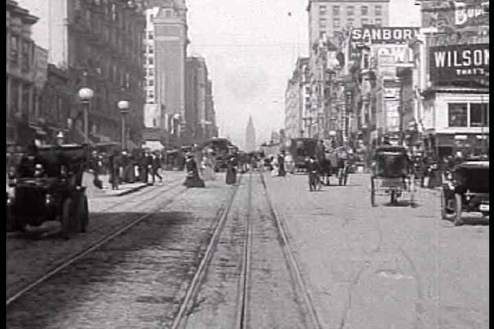 1900s - A trip down Market Street in San Francisco in 1905.