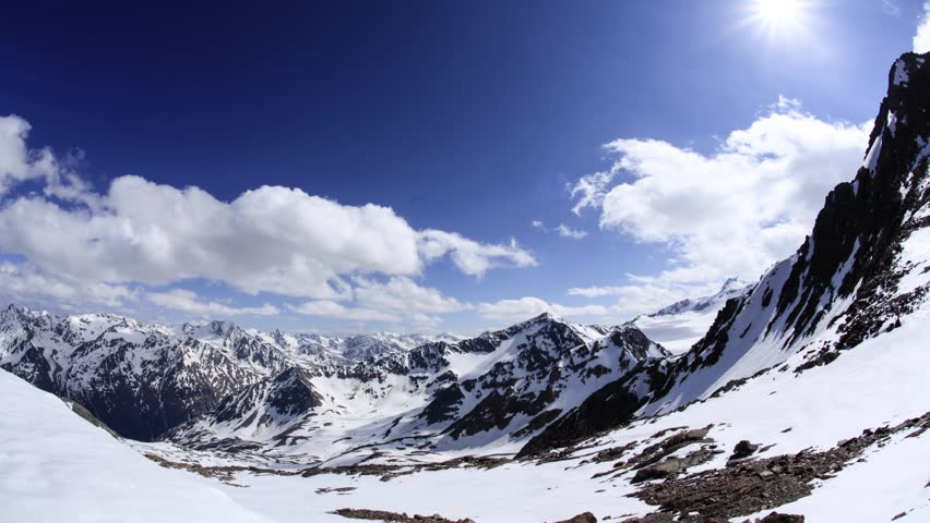 mountain view Soelden / Austria 2010 / time lapse 1  /  4K and UHD available on request!