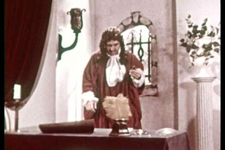 1950s - Dramatic re-enactments of historic bacteriologists Van Leeuwenhoek, Pasteur and Koch