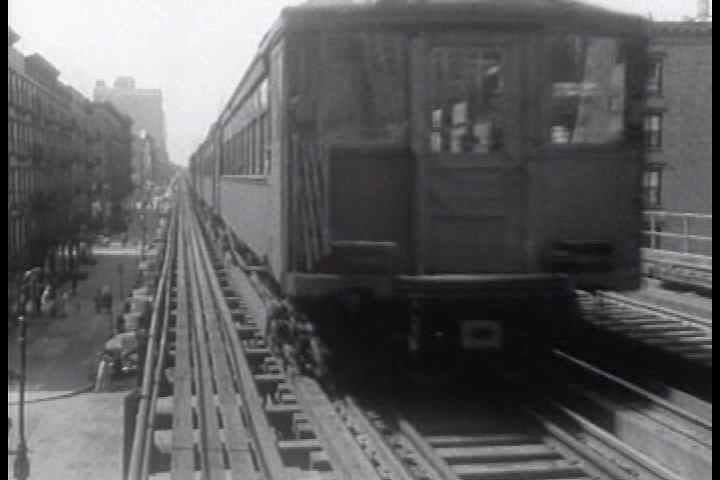 1950s - The last trip of the New York City 3rd avenue El.
