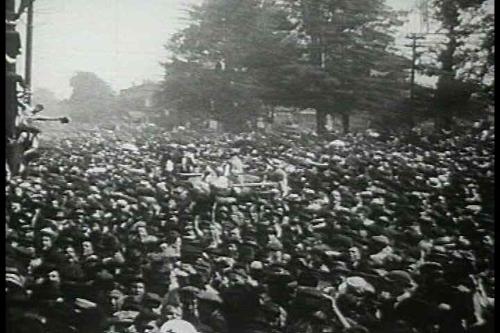 1910s - Parades and patriotic fervor as the US joins WWI. Industry begins to manufacture armaments for the war.