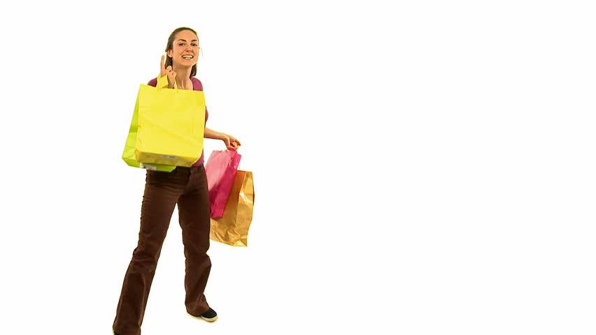 shopping over white