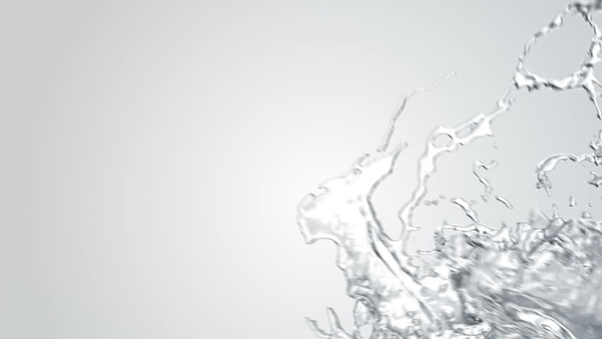 water splashes Filling the screen + Alpha Channel (for editors) Simulated and rendered with very high detail for FullHD