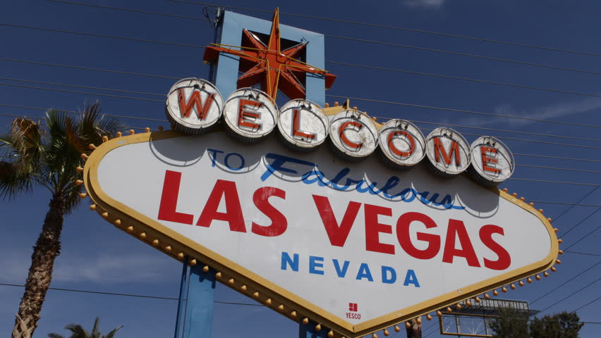 Welcome to Fabulous Las Vegas Nevada Sign, Las Vegas Strip, USA, by day | Shutterstock HD Video #3972592