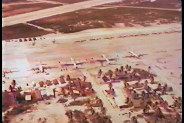 1960s - South Pacific nuclear tests on Christmas Island in 1962. - SD stock footage clip
