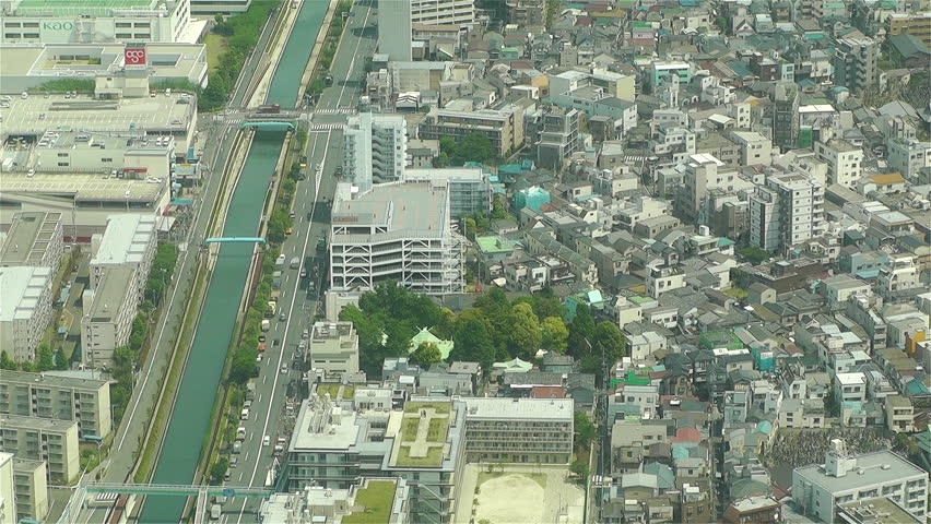 TOKYO, JAPAN - MAY 11: Aerial view to Tokyo from the Skytree in 2013
