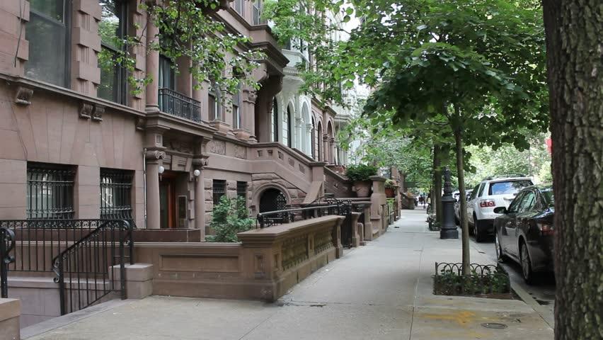Man walks away from camera in New York City