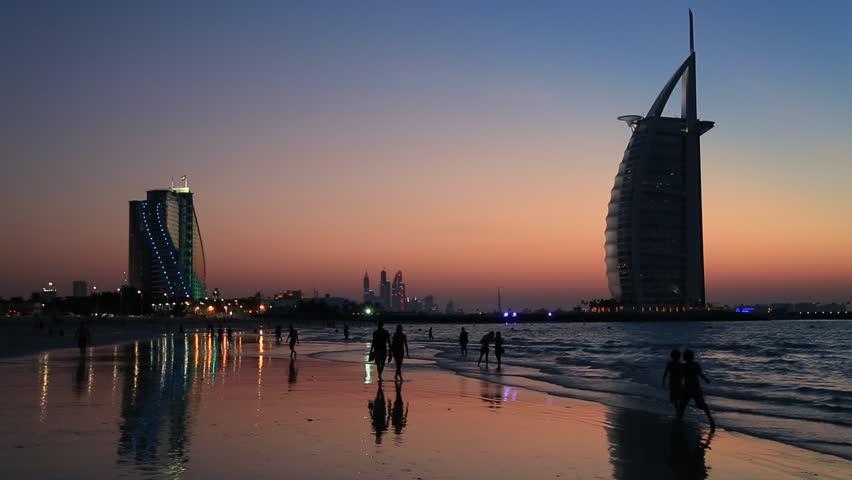 DUBAI, UAE - NOVEMBER 14 :The world's first seven stars luxury hotel Burj Al