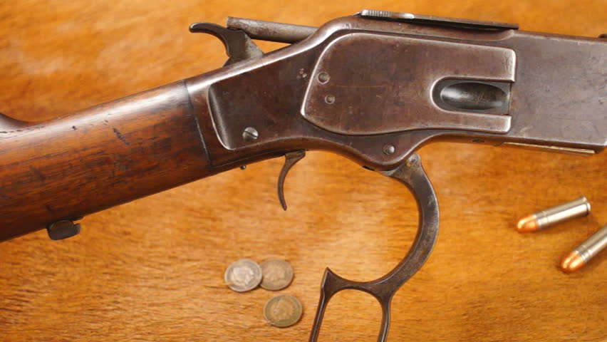 Old Western Lever action Rifle, late 1800's,