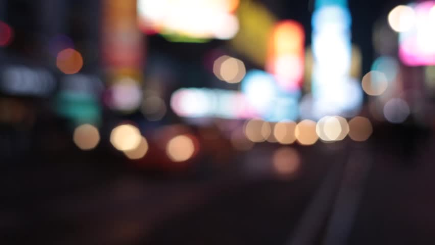 Times Square traffic in New York City blurred   Shutterstock HD Video #4014904