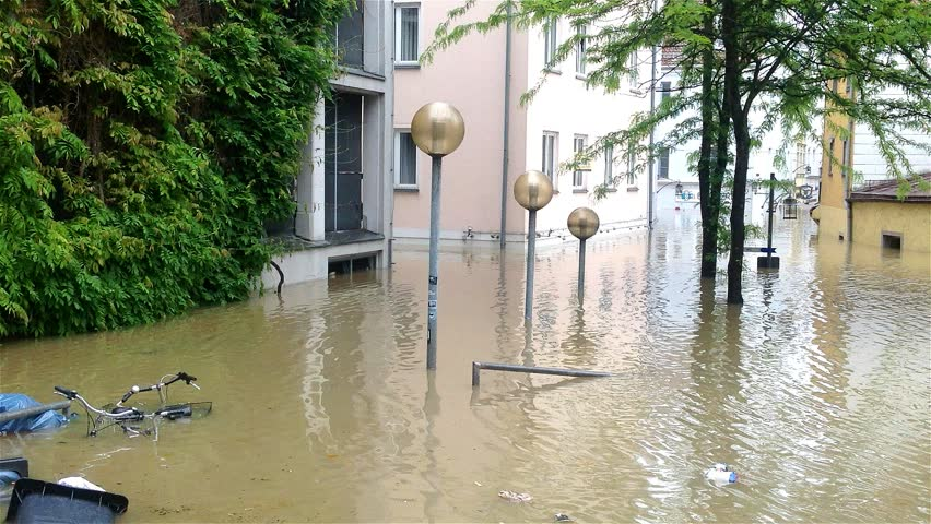 PASSAU - JUNE 3: The flood of the century on June 3, 2013 in Passau, Germany. This historic natural disaster was the greatest flood in Bayern, Germany in the last 500 years.