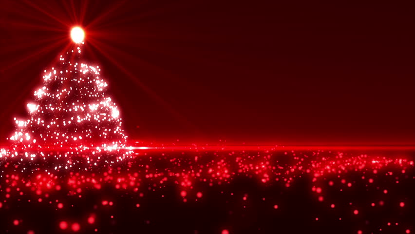 red christmas tree background stock footage video 4031392 shutterstock - Red Christmas Tree Lights