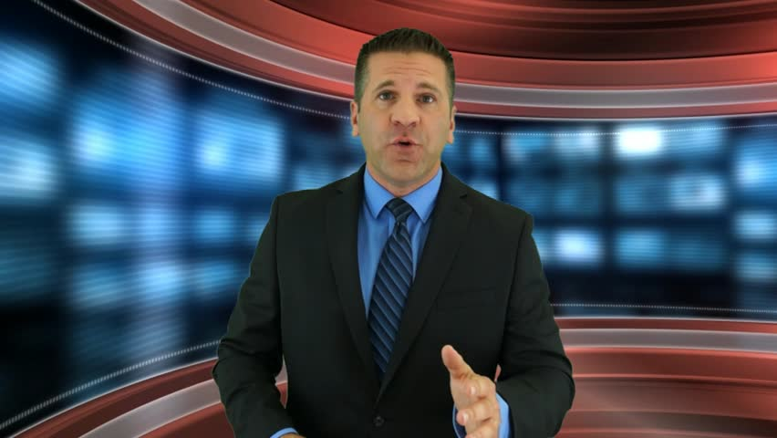 A Newscaster Has Breaking News on an Alien Invasion